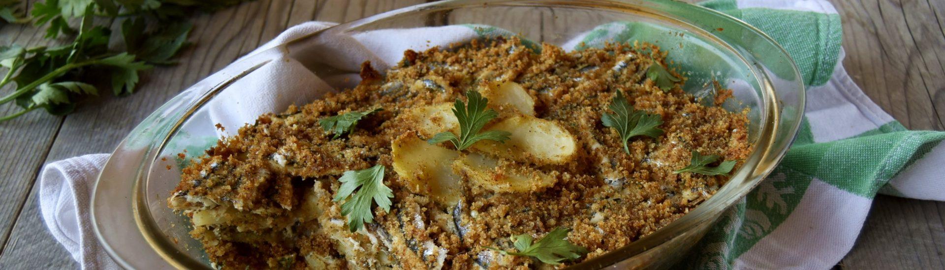 Tortino di alici al forno con patate