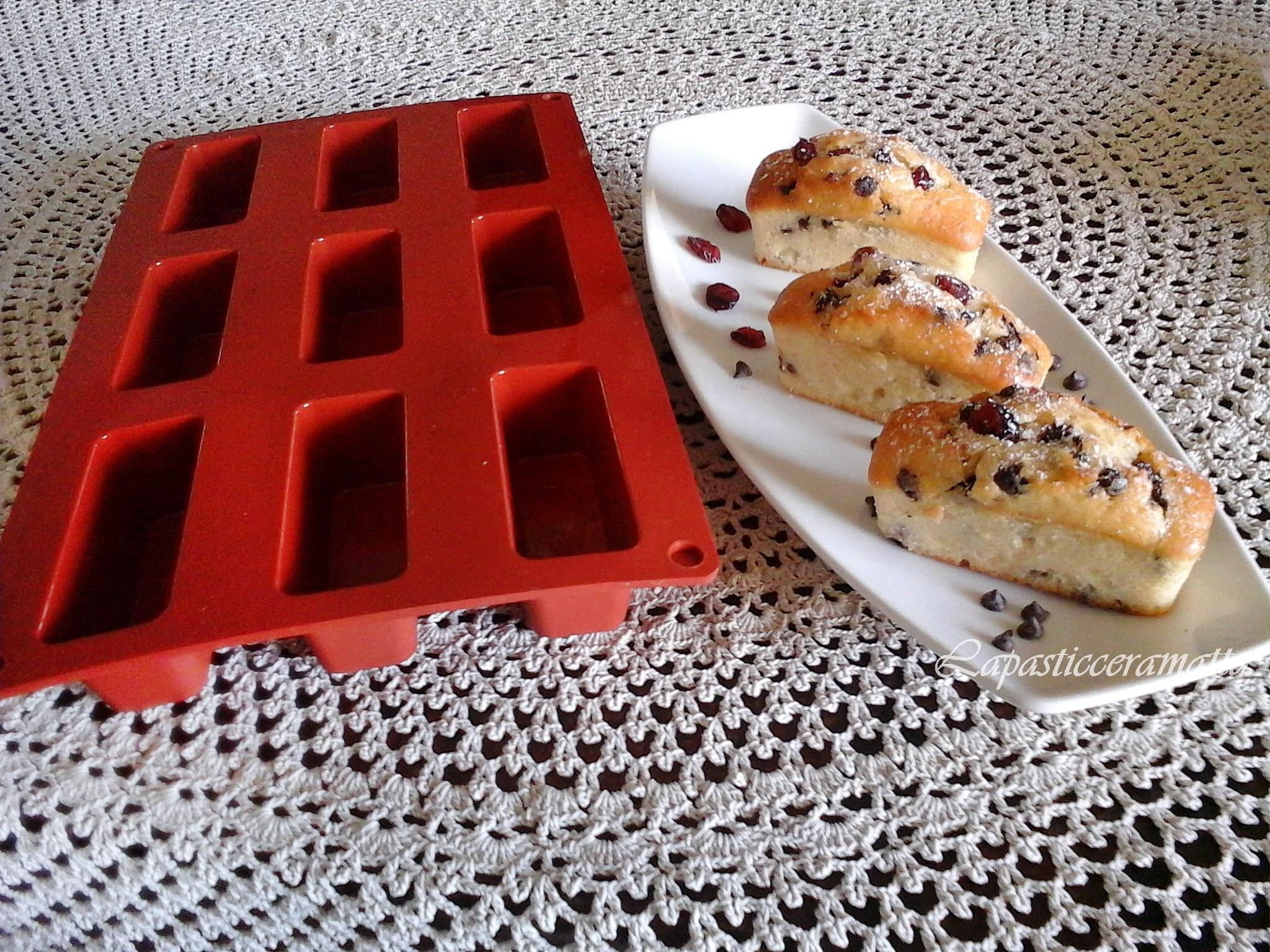 Muffins yogurt gocce di cioccolato e mirtilli rossi