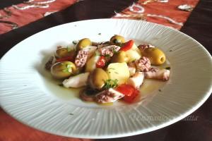 Insalata di polpo morbidissimo con olive