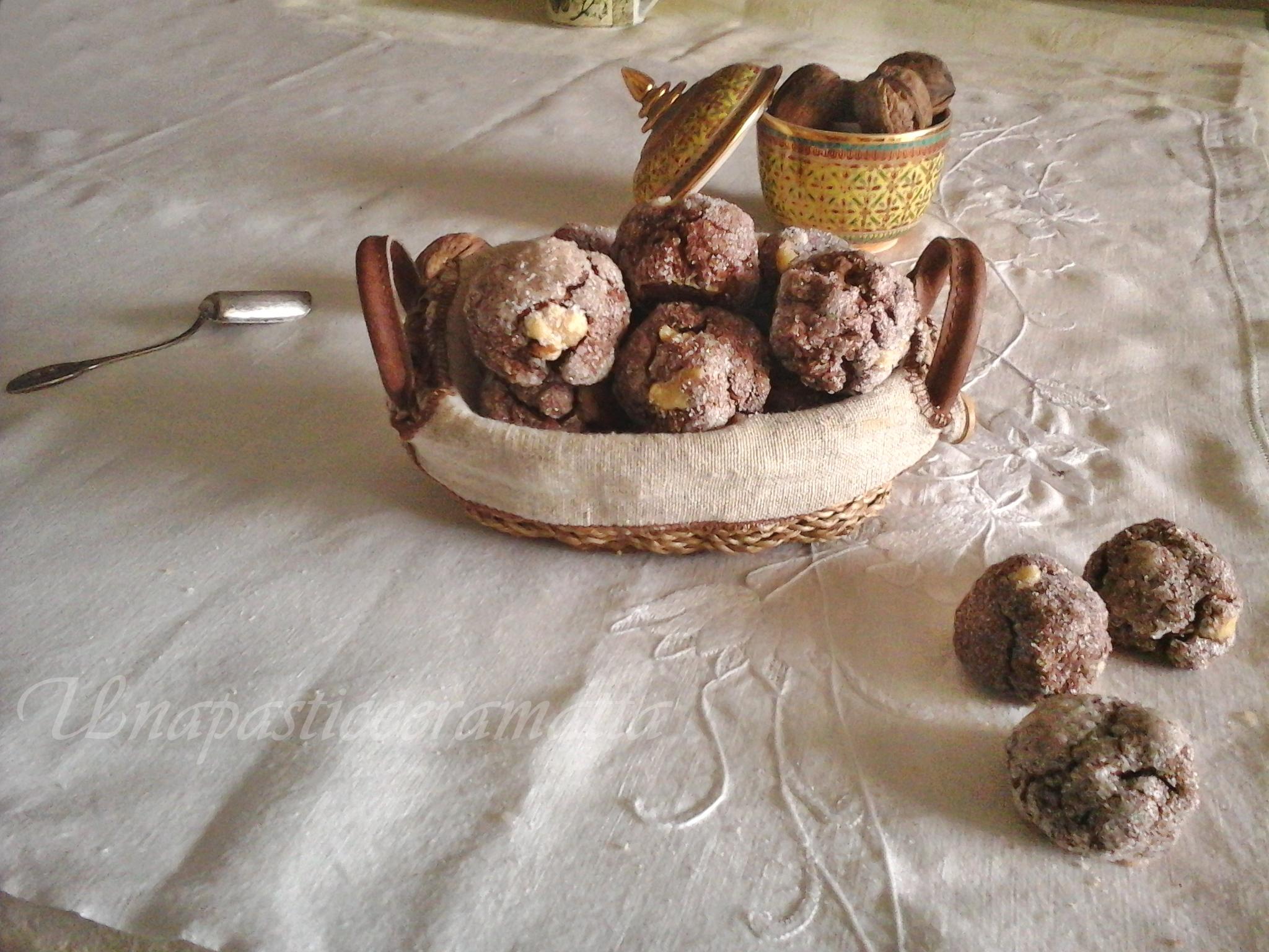 Biscotti con albumi noci e cacao - senza burro