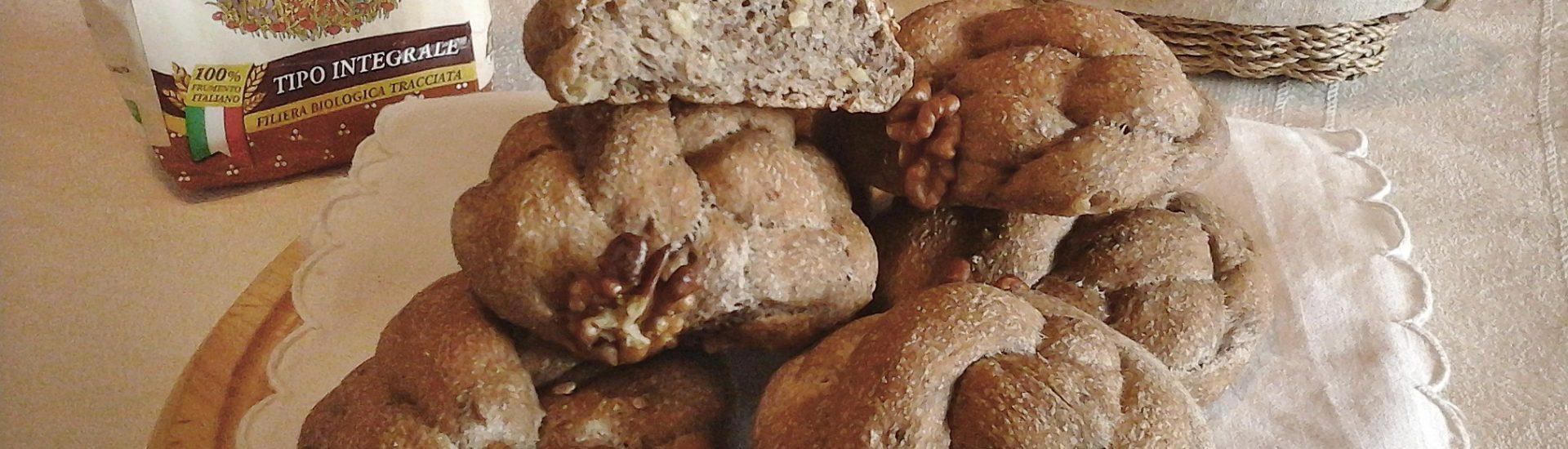 Panini integrali con noci e pasta madre
