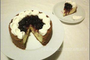 Cheese-cake al limone e mirtilli