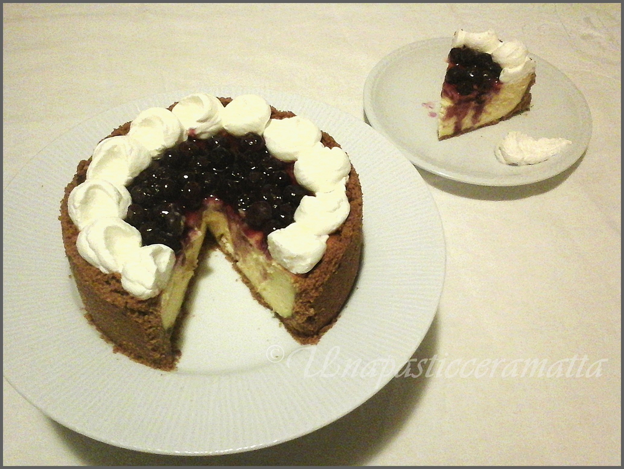 Cheese-cake al limone e mirtilli
