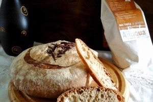 Pane senza impasto con farina tipo 2 (lievito madre)