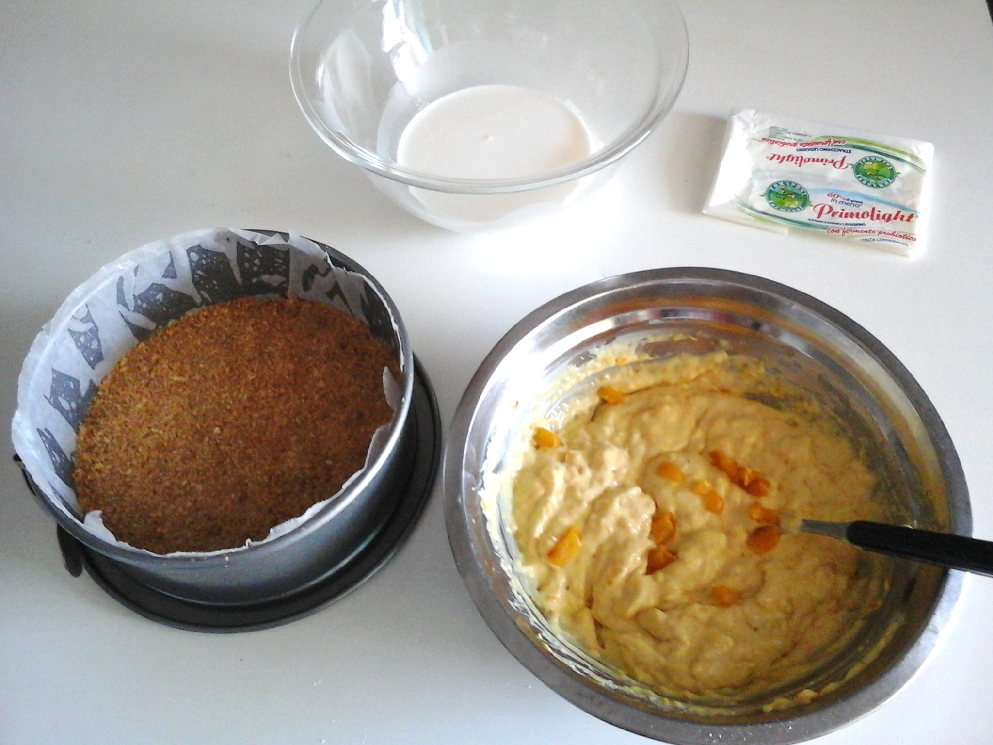 Cheese cake salato ai peperoni