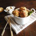 Polpette patate e funghi al curry e curcuma cotte in forno