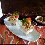 Bicchierini salati mousse di olive e streusel