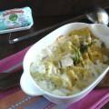 Medaglioni di semolino e asparagi con crema di stracchino
