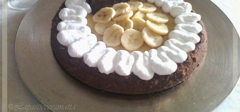 Cheesecake alle banane e cioccolato