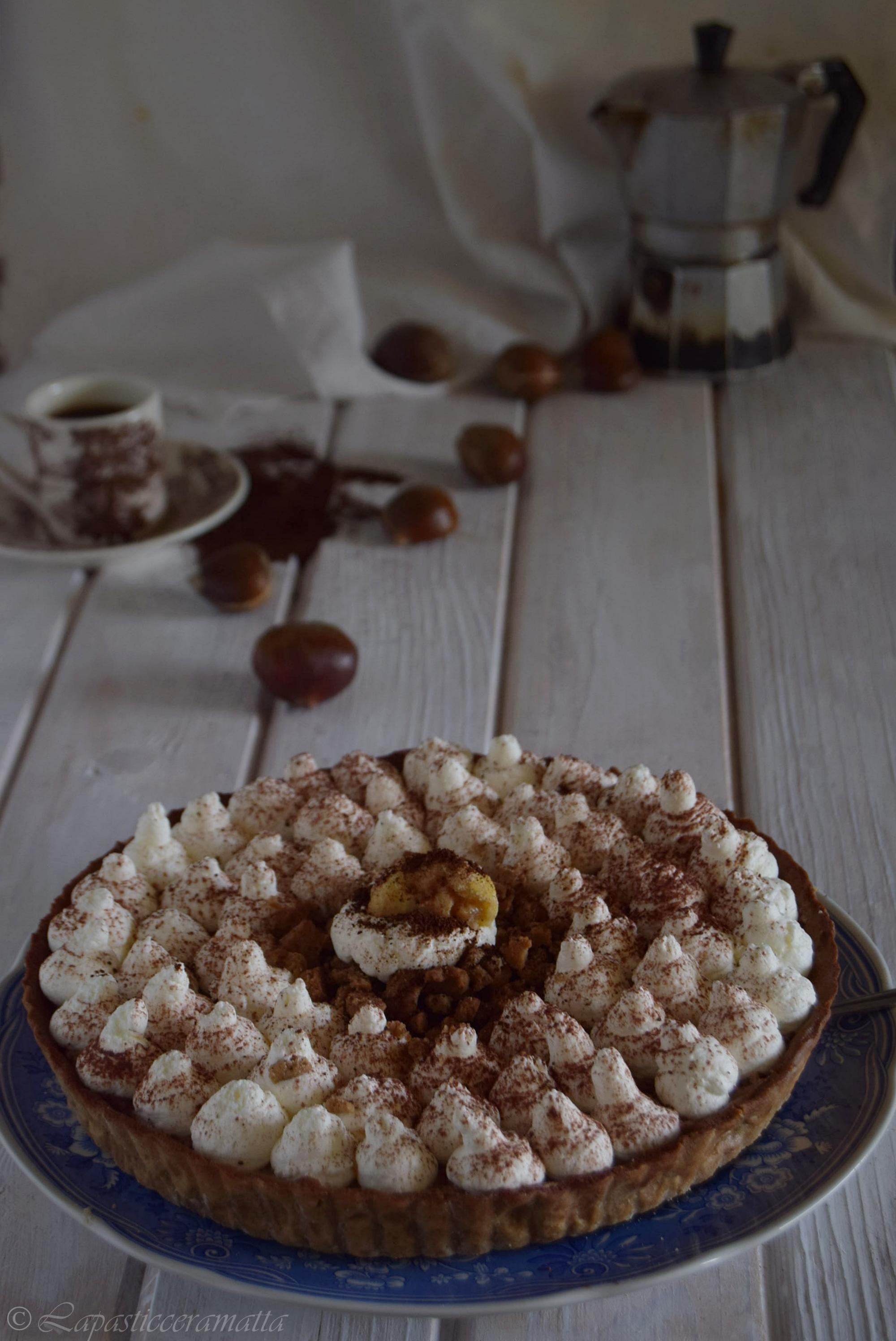 Crostata Monte Bianco al caffè
