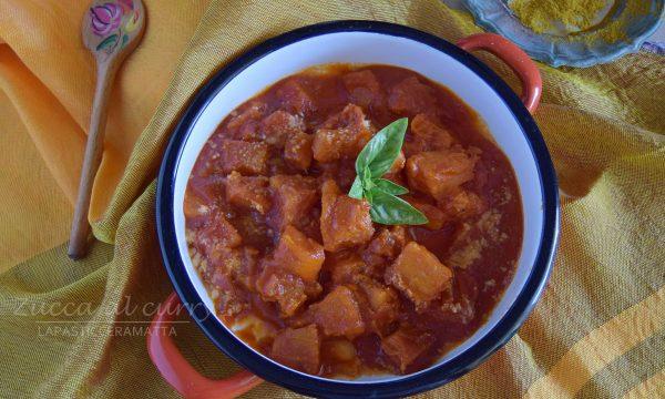 Zucca al curry in umido-contorno veloce