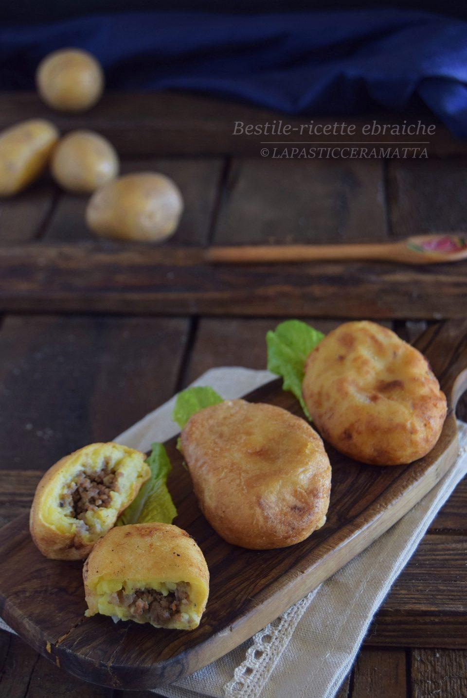 Bestile polpette di patate ripiene -ricette ebraiche