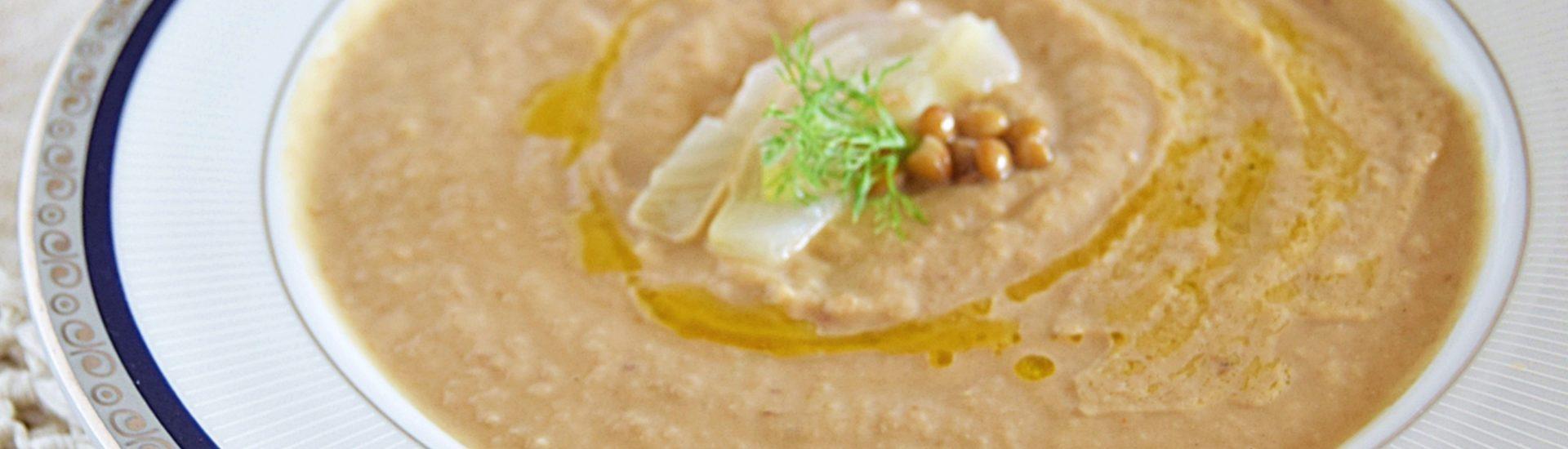 Crema di lenticchie e finocchi leggera