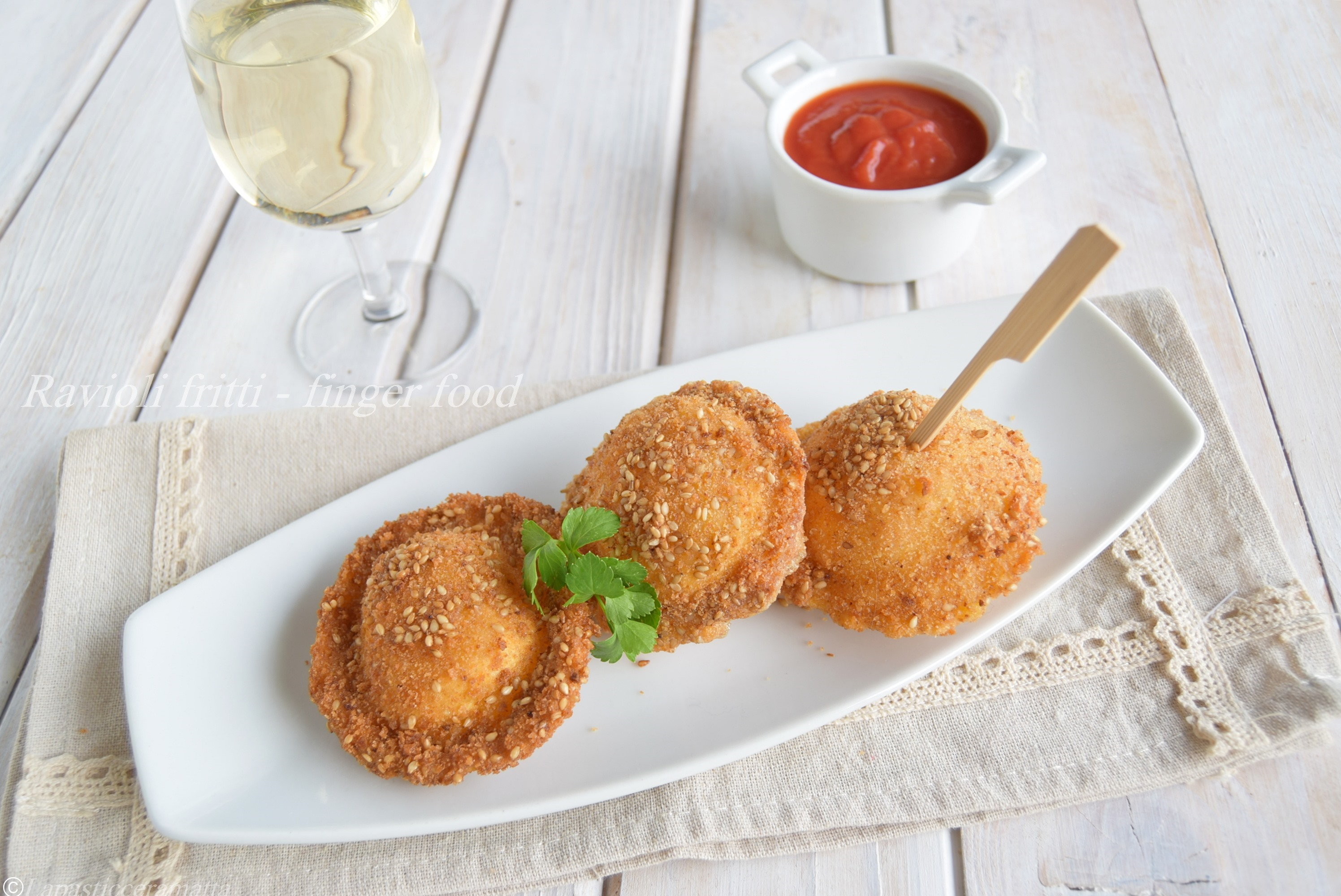Ravioli fritti - finger food