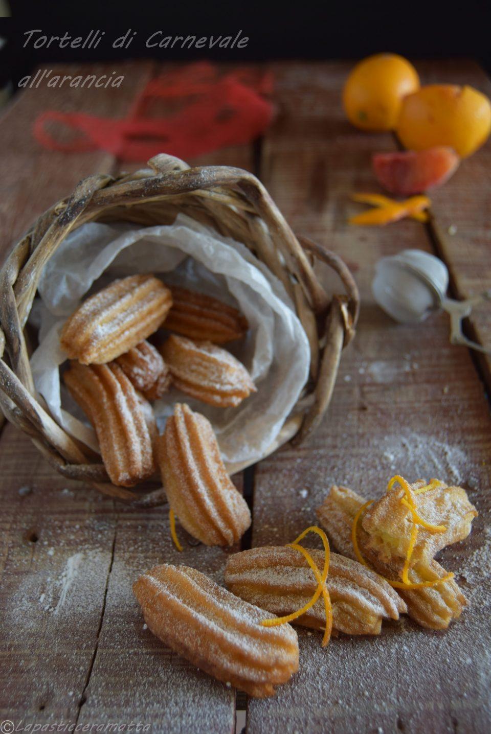 Tortelli di Carnevale all'arancia-ricetta veloce