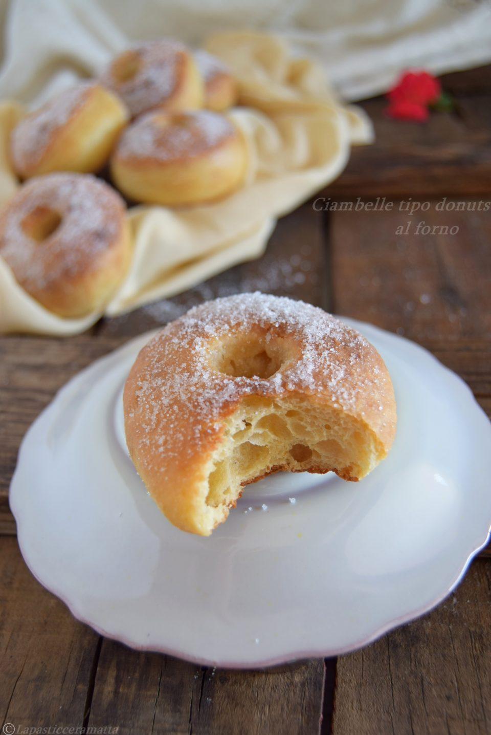 Ciambelle tipo donuts al forno