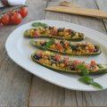 Zucchine ripiene alla mediterranea-ricetta leggera