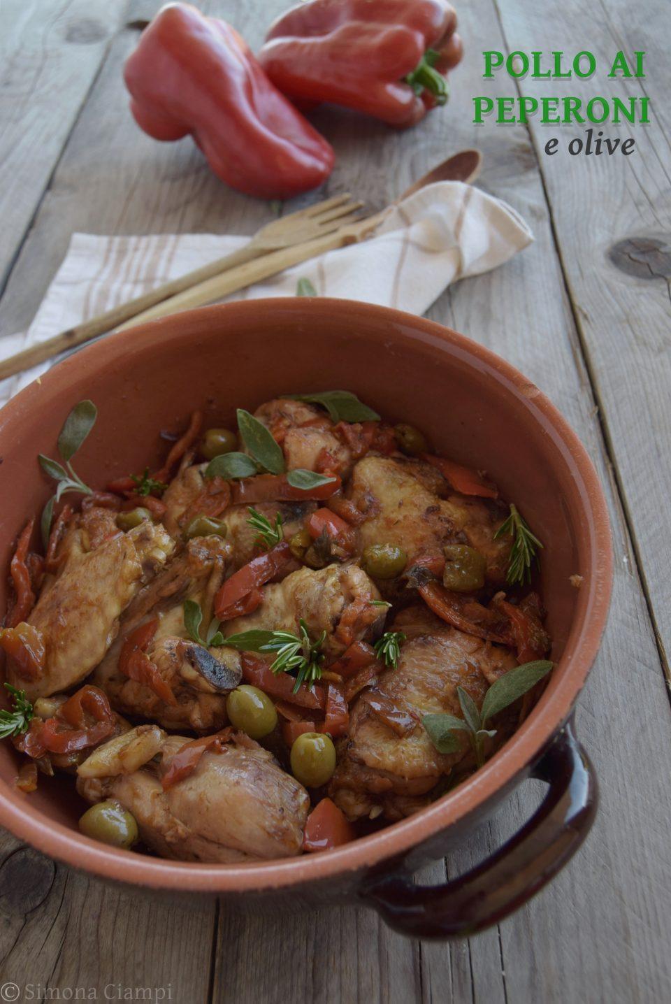 Pollo ai peperoni e olive - facile e saporito