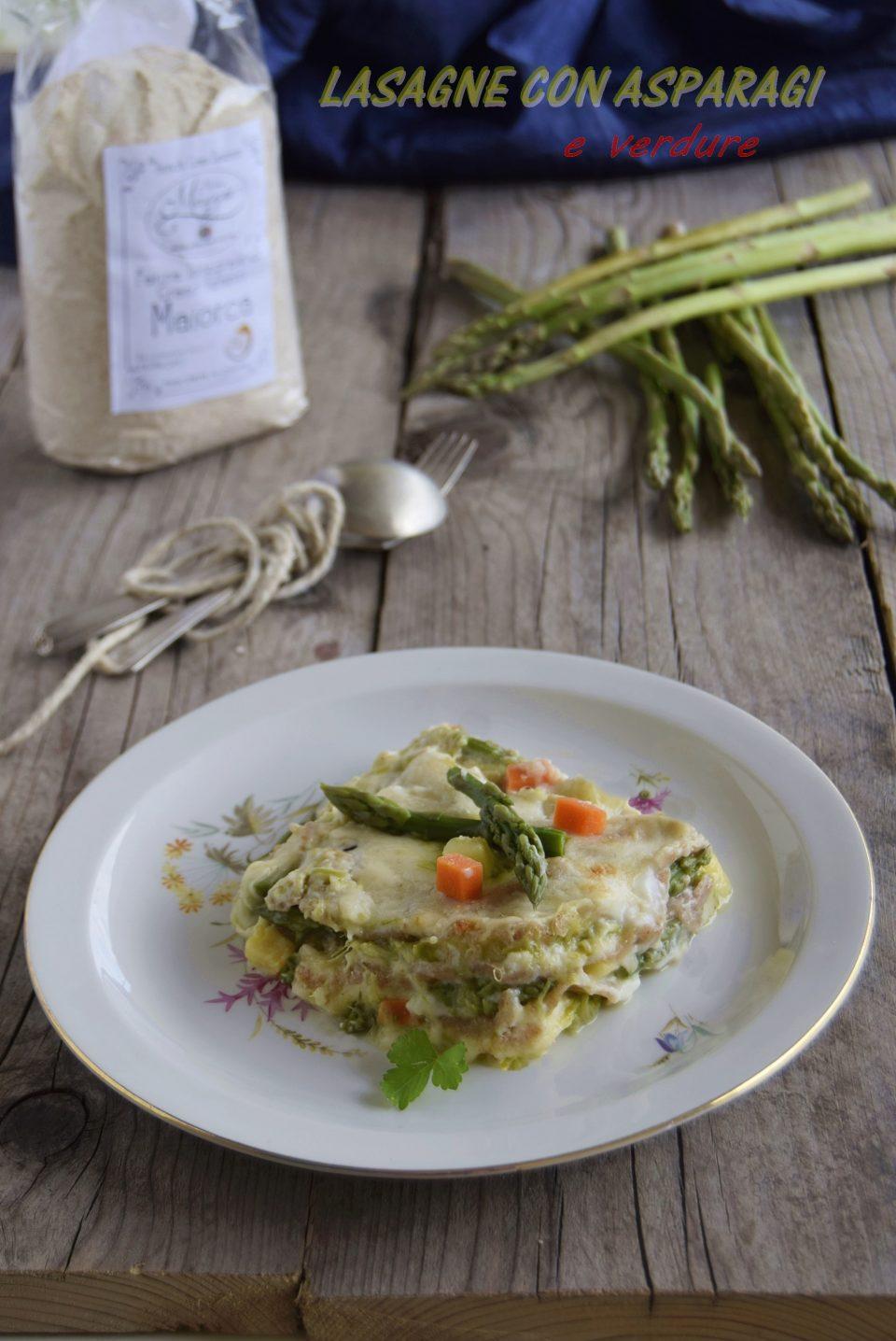 Lasagne con asparagi e verdure