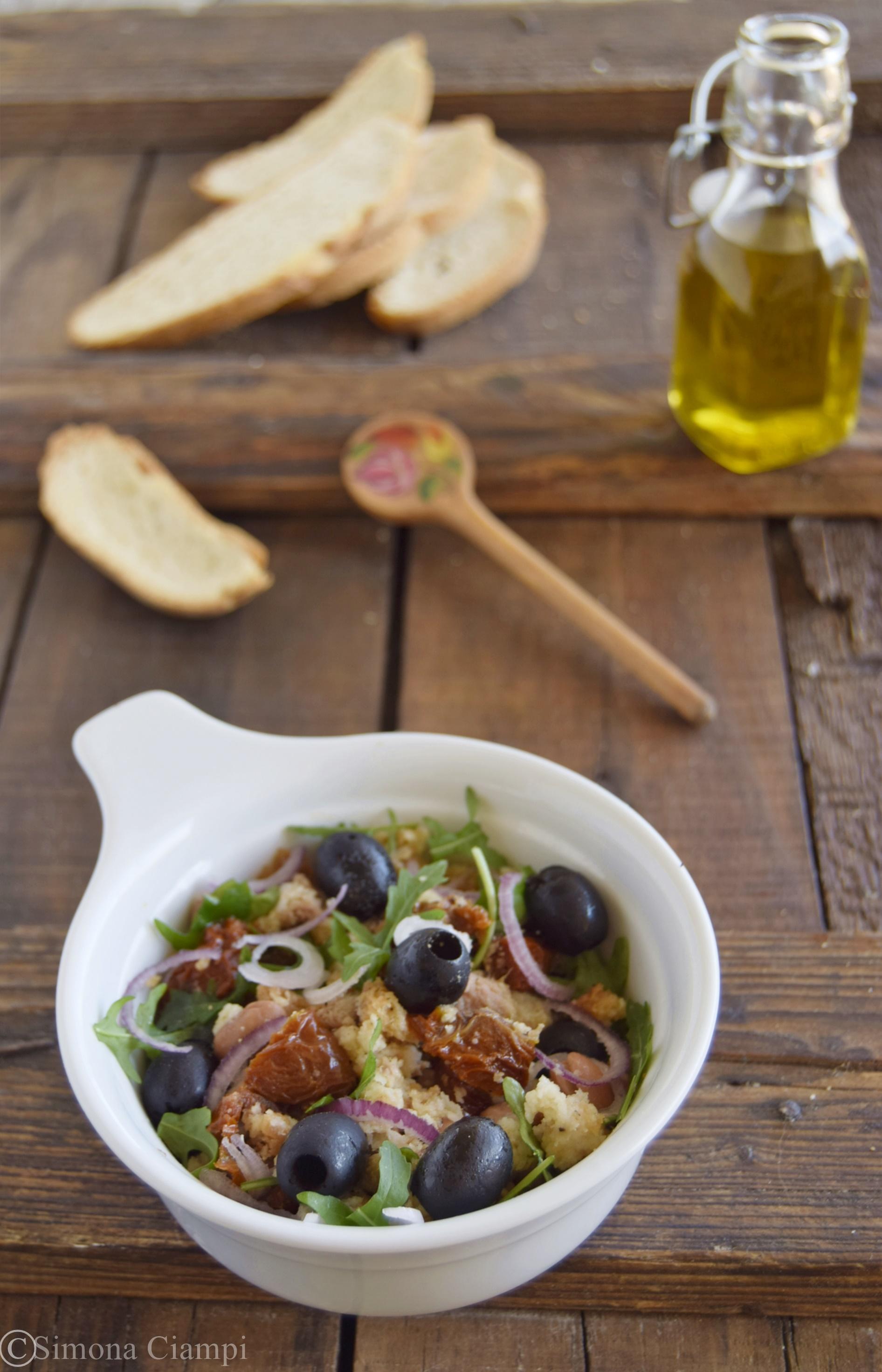 Panzanella toscana rivisitata primo piatto veloce for Primo piatto veloce