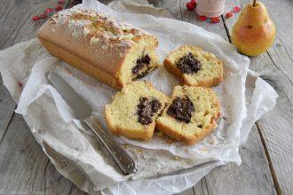 Plumcake con pere e crema di nocciole -ricetta senza lattosio