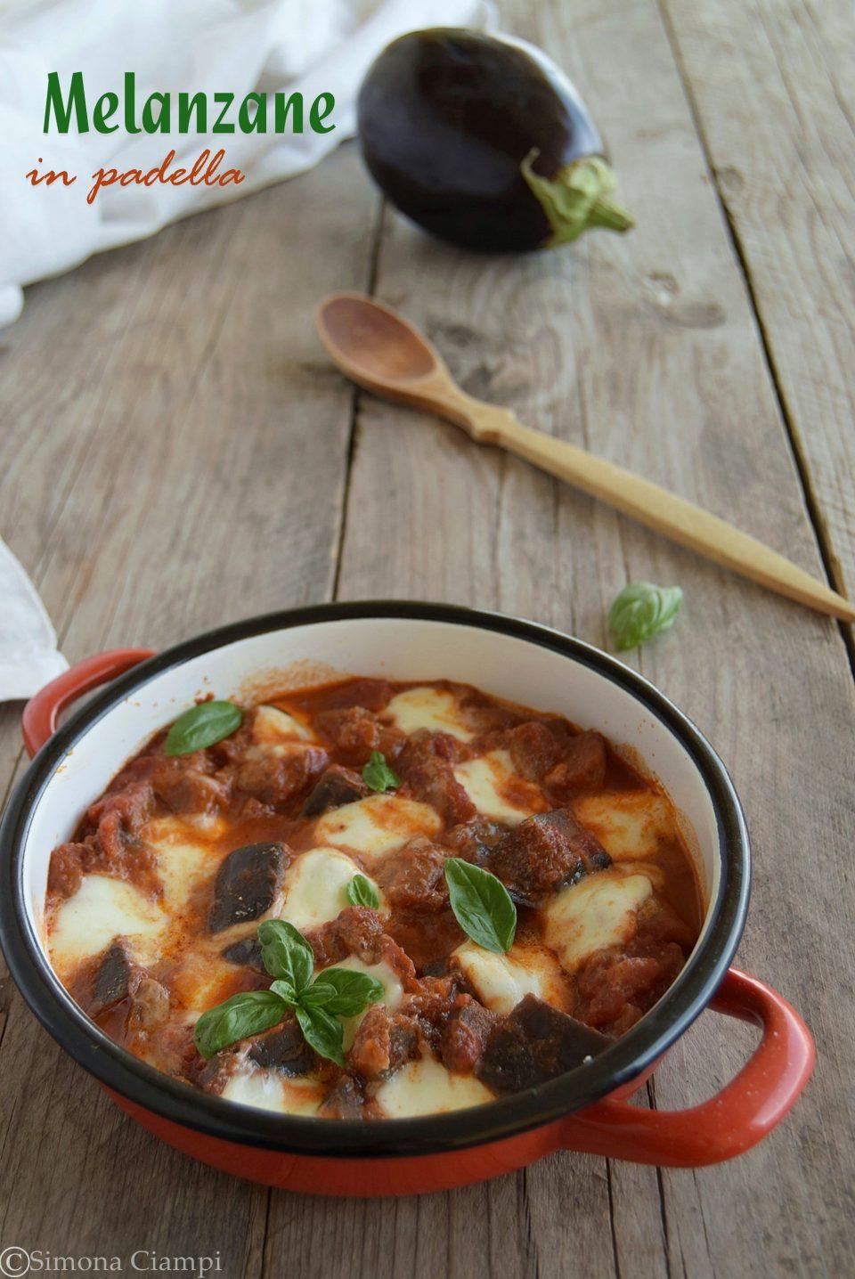 Melanzane in padella con mozzarella-piatto unico