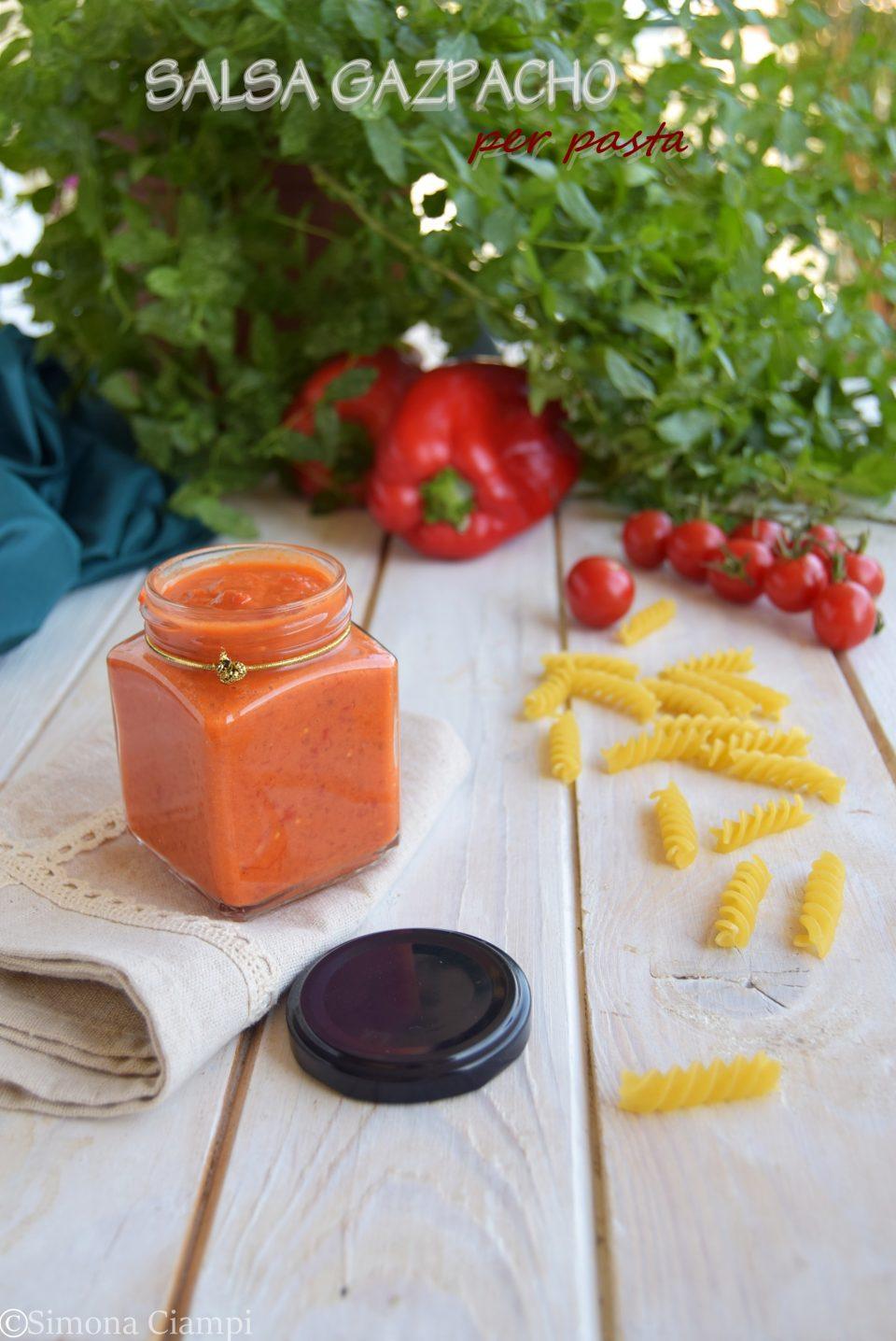 Ricetta salsa gazpacho per pasta fredda estiva