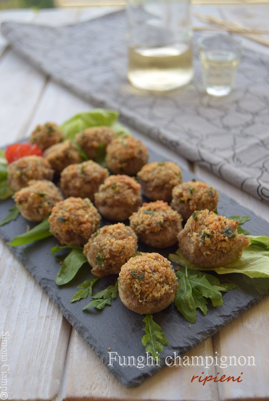 Funghi champignon ripieni-antipasto in 15 minuti