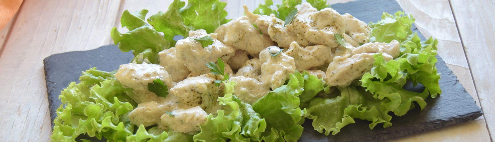 Bocconcini di pollo al pepe verde