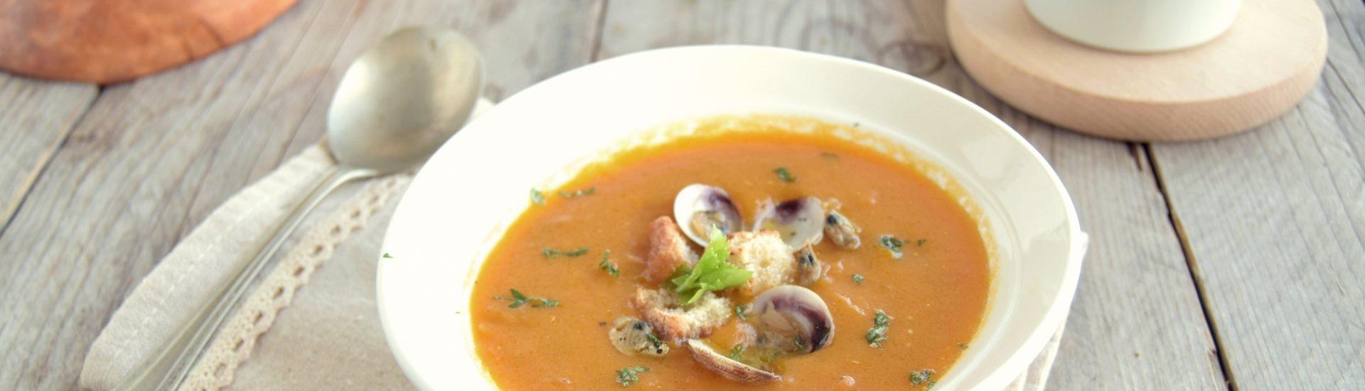 Zuppa di zucca e vongole