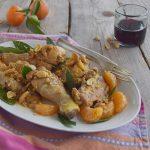 Pollo con anacardi e clementine al brandy
