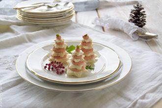 Alberelli di tartine natalizie- ricetta vegetariana facile