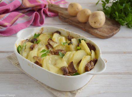 Pasticcio di patate e funghi goloso