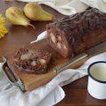 Plumcake al cioccolato e pere con mascarpone sofficissimo