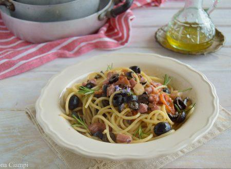 Spaghetti con pancetta alla campagnola