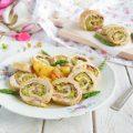 Girelle di tacchino ripiene di speck e crema di asparagi