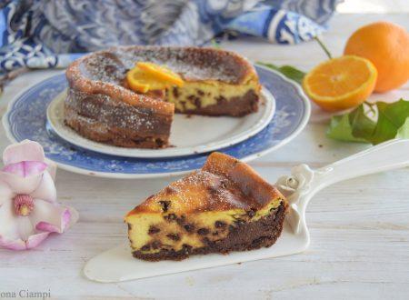 Torta morbida di ricotta arancia e cioccolato senza farina