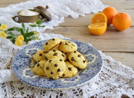 Biscotti all'arancia e gocce di cioccolato-pronti in 15 minuti