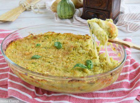 Gattò di zucchine e patate con scamorza