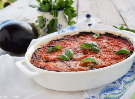 Ricetta delle melanzane alla parmigiana con finto sugo