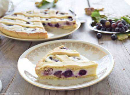 Crostata con uva fragola