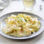 Paccheri al salmone limone e pistacchio cremosi