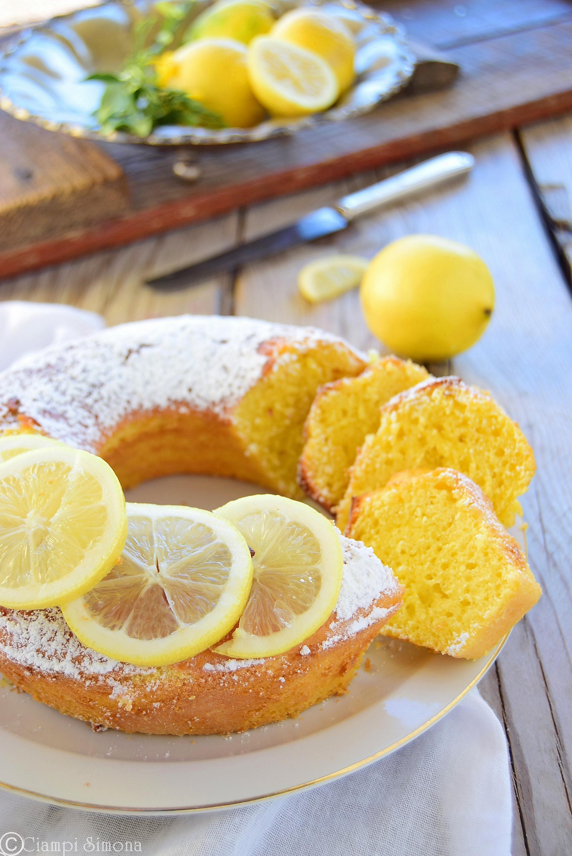 Ciambella limoncina allo yogurt senza grassi