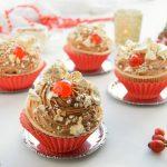 Cupcake di Natale al torrone e crema di nocciole