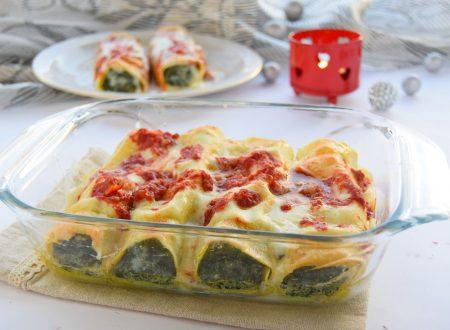 Cannelloni di magro con ricotta e spinaci