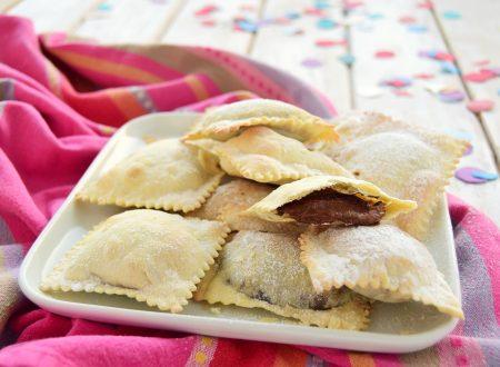 Ravioli dolci alla Nutella al forno