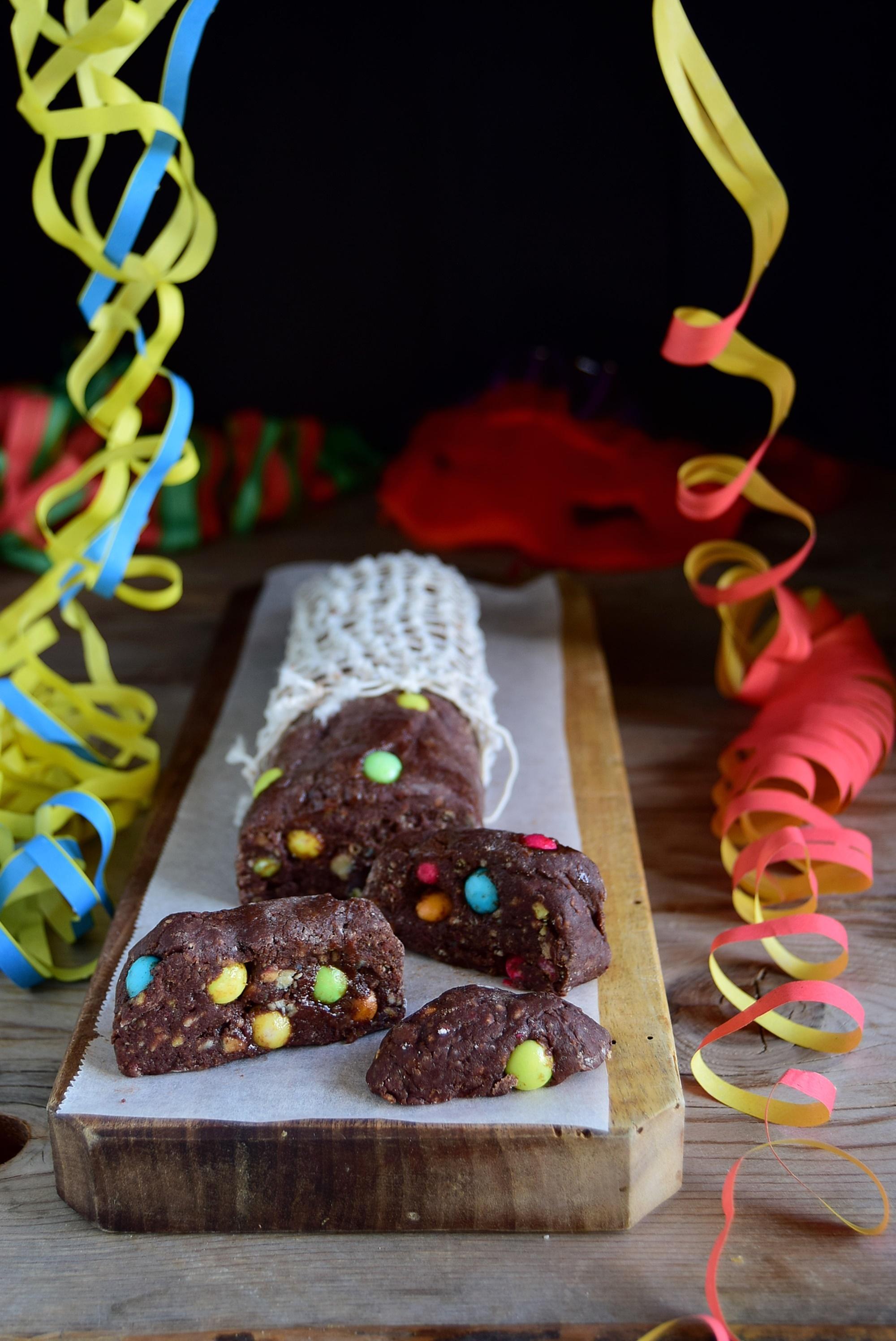 Ricetta salame al cioccolato di Carnevale