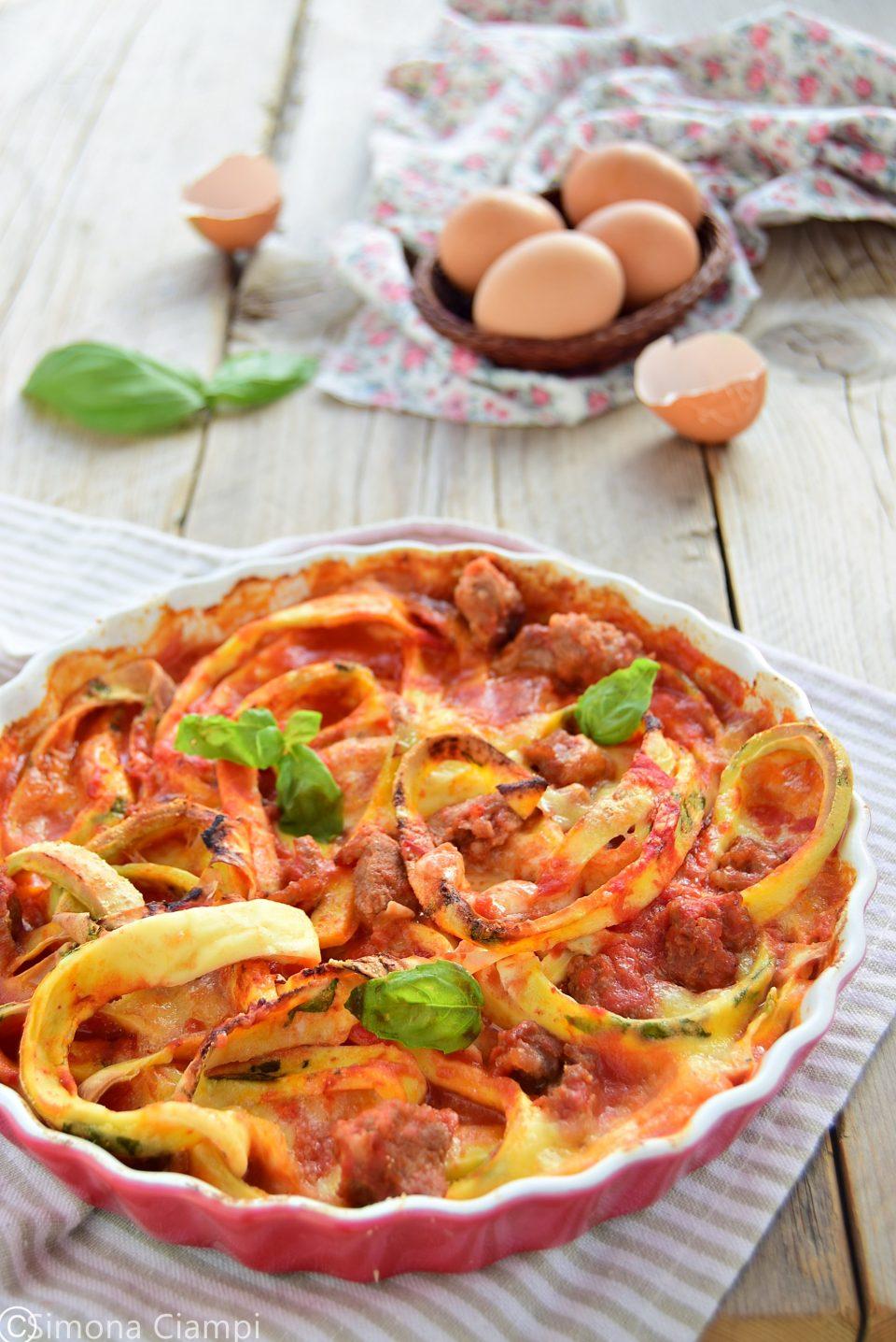 Ricetta uova in trippa pasticciate con salsiccia e mozzarella