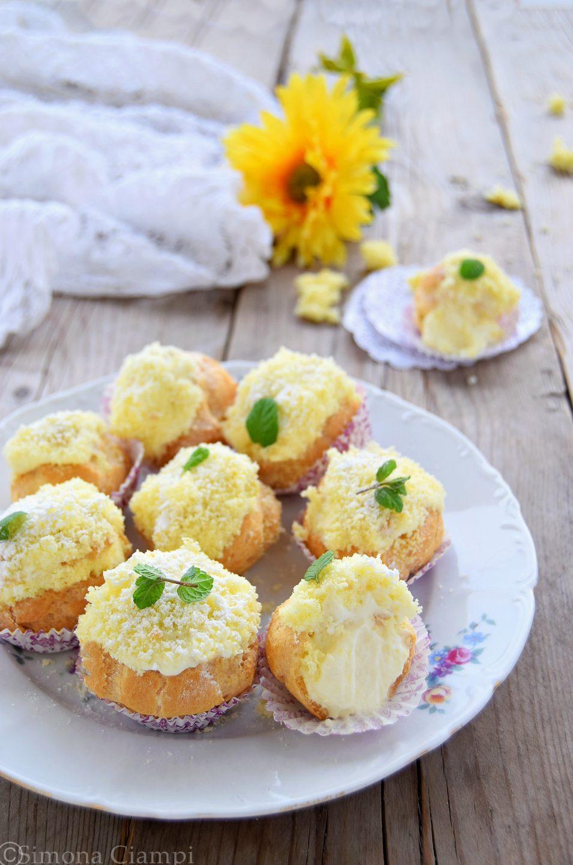 Bignè mimosa con crema Chantilly