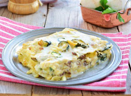 Lasagne con zucchine e salsiccia e Brie